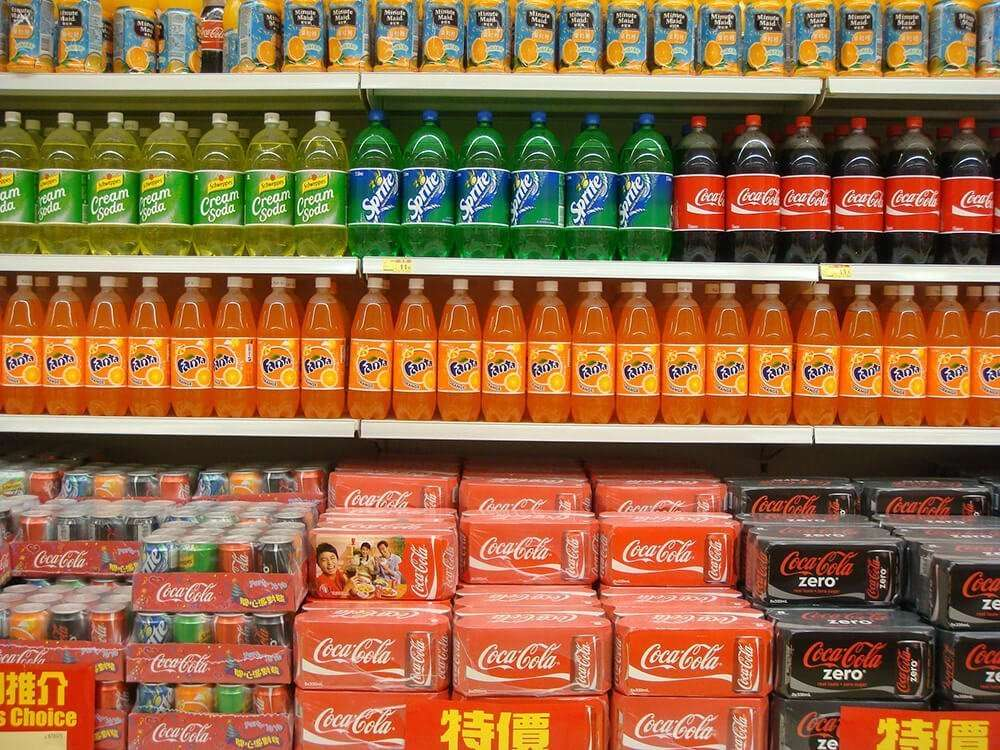 Fizzy and high sugar soft drinks