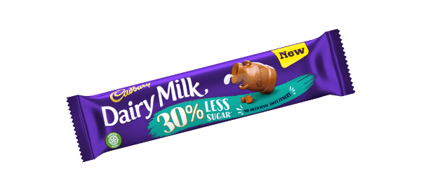 Dairy Milk 30% less fat chocolate bar