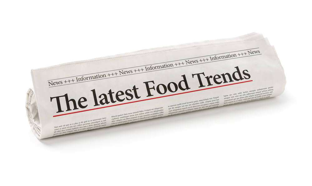The latest food trends on the front page of a newspaper