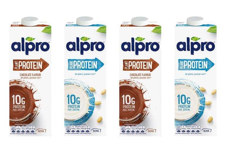 Alpro protein soya milk