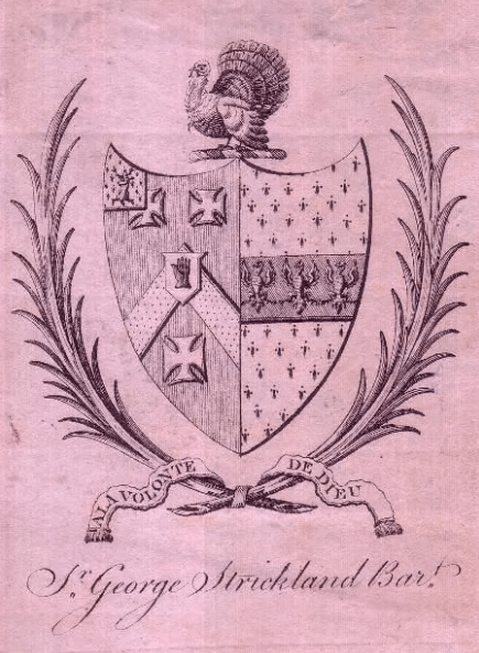 Strickland Family Crest - Where turkeys originated from
