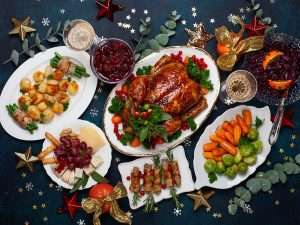 Traditional Christmas dinner around the world
