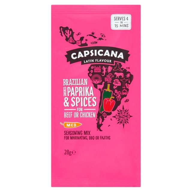 Capsicana Brazilian smoked paprika and spices for beef and chicken.