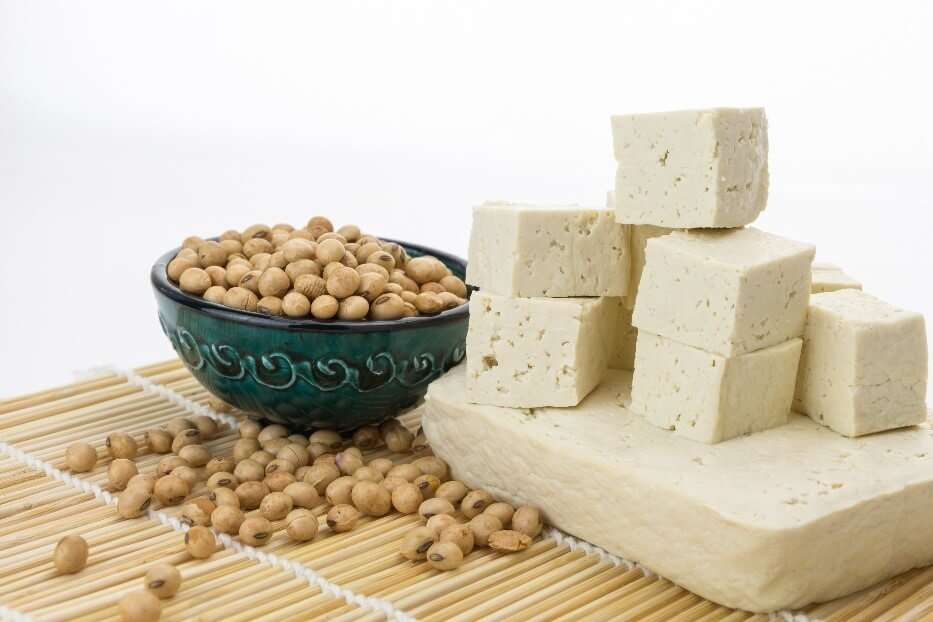 Soybeans and tofu
