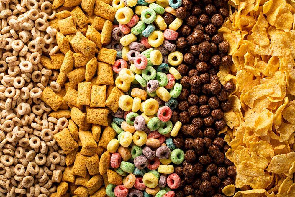 Sugary breakfast cereals
