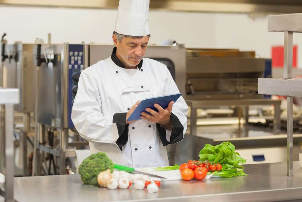 Chef Using Catering Control Platform