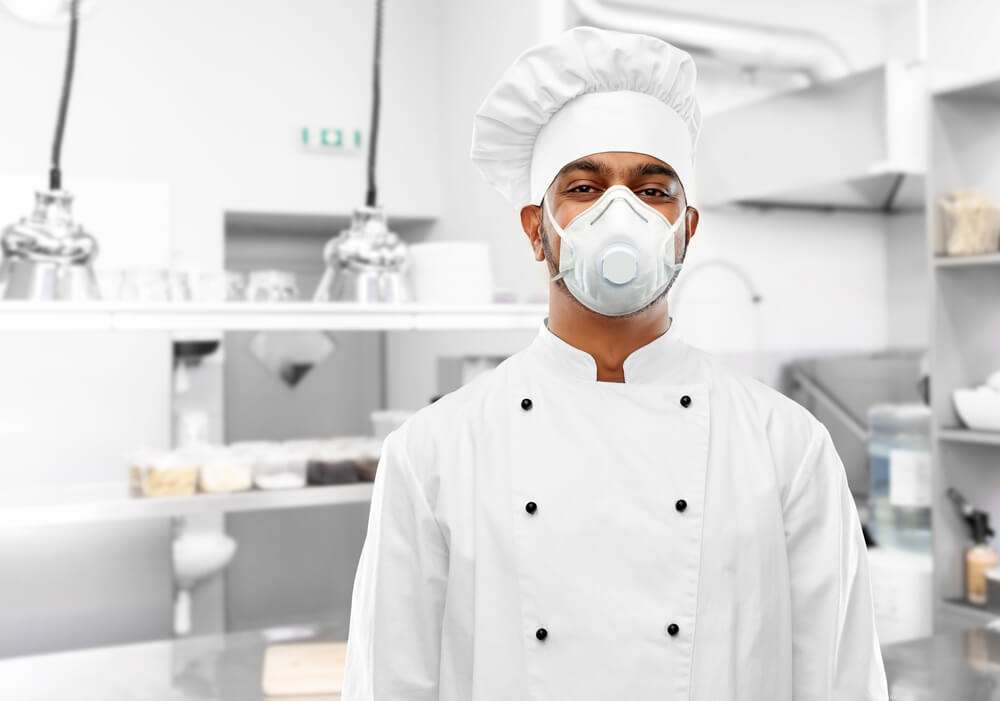 Covid-19 Support & Advice - Chef in PPE